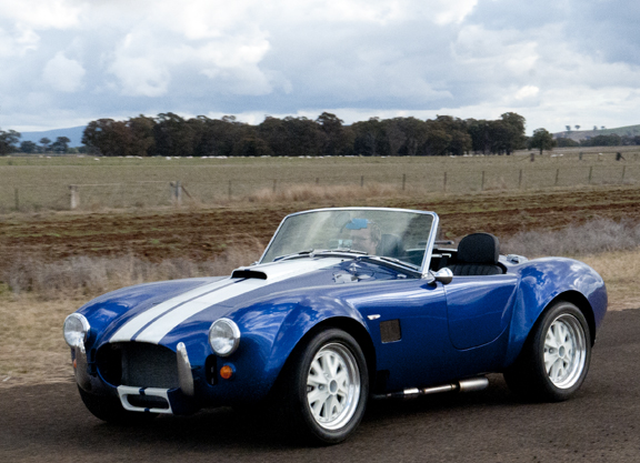Classic Revivals Cobra undergoing VSB14 ICV tests including Lane Change and brake test